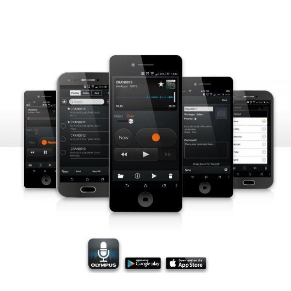 Olympus Diktiergeräte App